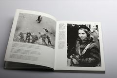Photography book by Nick Yapp, Hungarian girl with gun against Soviet invaders Royalty Free Stock Image