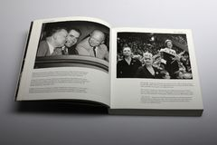 Photography book by Nick Yupp, Richard Nixon and supporters of Eisenhower. Title of book: 1950s: Decades of the 20th Century. Chapter 1, Movers and Shakers, page stock photo