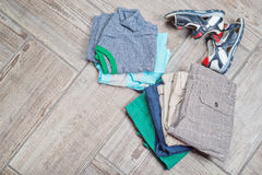 Photography of boy's casual outfits. Royalty Free Stock Images