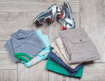 Photography of boy's casual outfits. Stock Photos