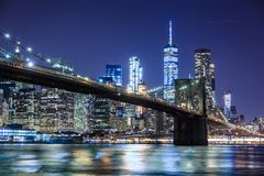 Photography of Bridge during Nighttime royalty free stock image