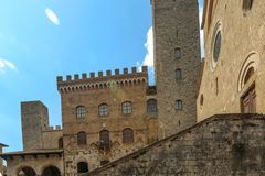 Building at San Gimignano, Italy royalty free stock images