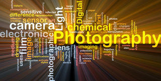 Photography camera background concept glowing Royalty Free Stock Photography
