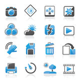 Photography and Camera Function Icons Stock Image