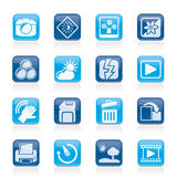 Photography and Camera Function Icons. Vector icon set Stock Photography