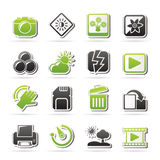 Photography and Camera Function Icons Stock Photo