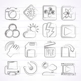 Photography and Camera Function Icons. Vector icon set Royalty Free Stock Image