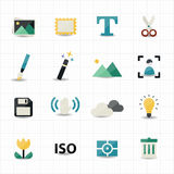 Photography and Camera Icons Stock Images