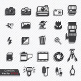 Photography camera lens and accessories set Royalty Free Stock Image