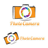 Photography camera logo aperture Stock Images