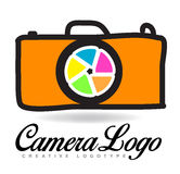 Photography camera logo Stock Images