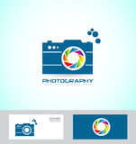 Photography camera logo Royalty Free Stock Photos