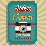 Photography and camera vintage design. Vector illustration Stock Photography