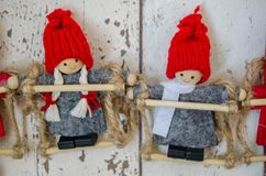 Christmas dolls Royalty Free Stock Photography