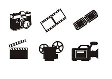 Photography and cinema symbols Stock Photo