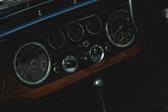 Photography of a Classic Car Gauge Stock Photography