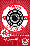 Photography color banner. With retro photo studio elements  vector illustration Royalty Free Stock Photography