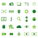 Photography color icons on white background Stock Image