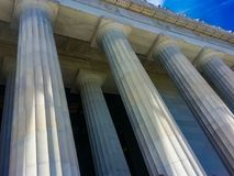 Greece Ambience. Photography of Columns at Lincoln monument Stock Photo