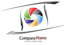 Photography company logo Royalty Free Stock Images