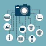 Photography concept idea in flat style Royalty Free Stock Photo