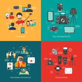 Photography concept set Royalty Free Stock Photography