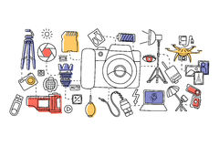 Photography concept for web design template Stock Image