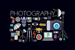 Photography concept for web design template Royalty Free Stock Photo