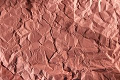 Pink crumpled paper seamless background. Photography of crumpled paper pink color seamless background royalty free stock image