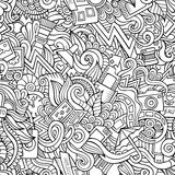 Photography doodles seamless pattern Stock Photo