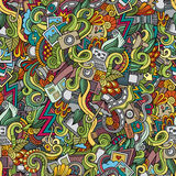 Photography doodles seamless pattern Stock Image