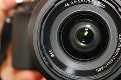Photography dslr camera. Sharp image of digital camera for photography Royalty Free Stock Image
