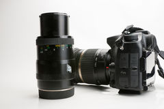 Photography Equipment, Digital photo camera Royalty Free Stock Images