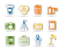 Photography equipment icons Royalty Free Stock Photos