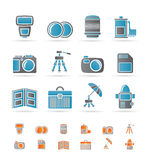 Photography equipment icons Royalty Free Stock Photo