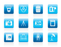 Photography equipment icons Stock Photography