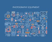 Photography equipment vector banner template Stock Image