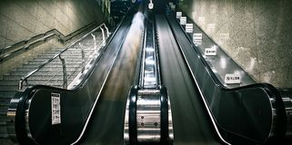 Photography of Escalator and Stairs Stock Photos
