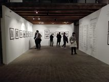 Photography exhibition in the cultural center of Ancona in Italy. April 2018: photography exhibition of Henri Cartier Bresson in the cultural center of Ancona stock photography