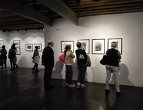 Photography exhibition in the cultural center of Ancona in Italy. April 2018: photography exhibition of Henri Cartier Bresson in the cultural center of Ancona royalty free stock photography