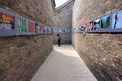 Photography festival. The 12th China Pingyao International Photography Festival opened at 2012.9.19 in Pingyao, Shanxi, China. This is picture exhibition in Wen Stock Photo