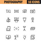 Photography flat icon set. Royalty Free Stock Photos