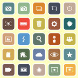 Photography flat icons on light background Royalty Free Stock Photos