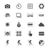 Photography flat icons Stock Photos