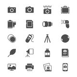 Photography flat icons Royalty Free Stock Images