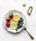 Photography of Fruits on Plate royalty free stock photo