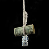 Dollar, noose and dices  Stock Image