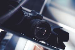 Photography Gear on Sale Stock Images