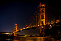 Photography of Golden Gate Bridge during Night Time Stock Image