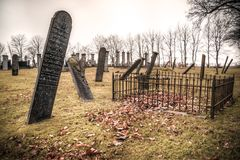 Photography of Graveyard Under Cloudy Sky Royalty Free Stock Images